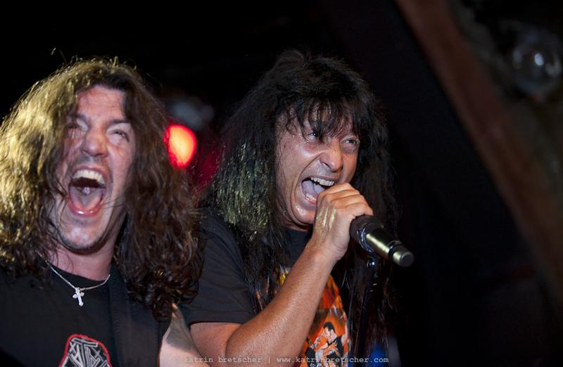Frankie Bello and Joey Belladonna of Anthrax, Schüür Lucerne, July 5 2011