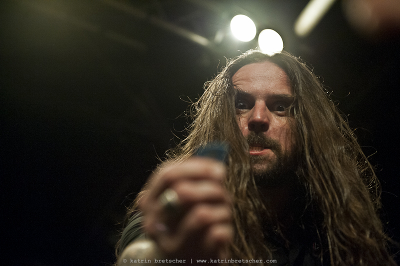 Andreas Kisser of Sepultura, standing in for Scott Ian at Anthrax\'s show at Schüür Lucerne, July 5 2011