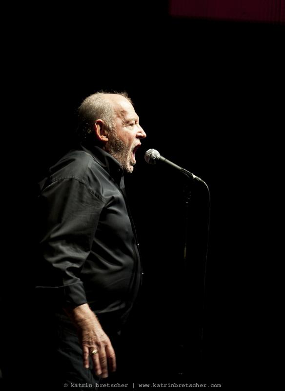 Joe Cocker  live concert photo taken by professional rock photographer Katrin Bretscher