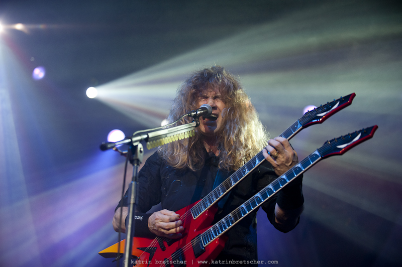 Megadeth  live concert photo taken by professional rock photographer Katrin Bretscher