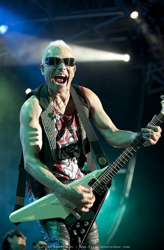 Scorpions  live concert photo taken by professional rock photographer Katrin Bretscher